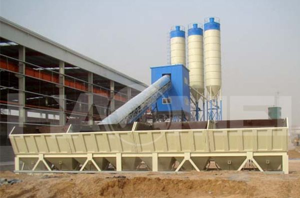 Zhengzhou Subway used HZS120 concrete plant