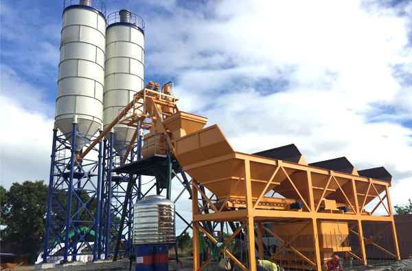 75m3/h concrete batching plant commissioning in manila