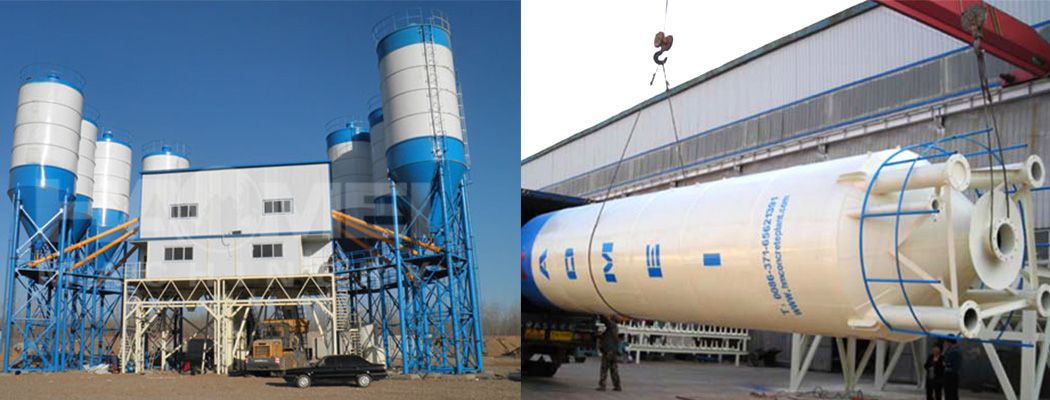 Concrete mixing plant and additive weighing