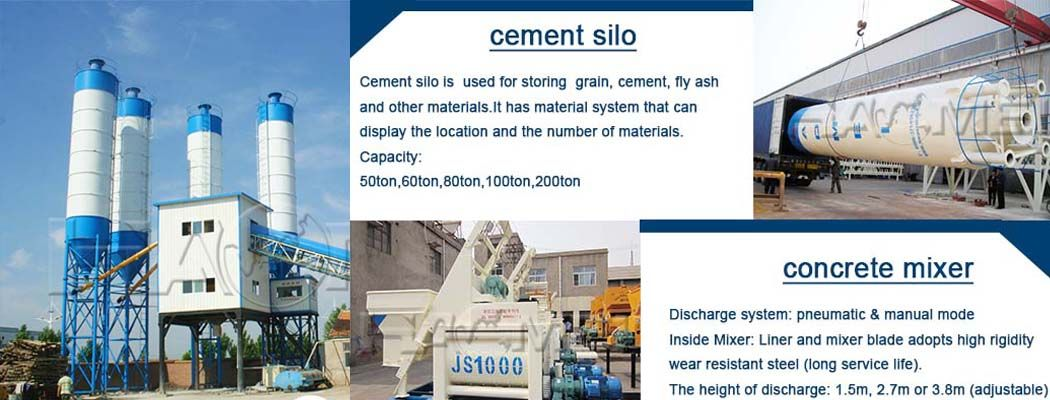 The equipment selection of hzs75 commercial mixing plant