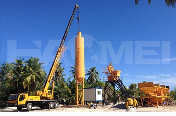 Configuration of Commercial Concrete Mixing Plant