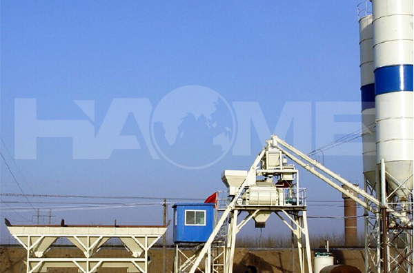HZS240 commercial concrete batching plant/tower