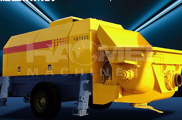 HBT60 trailer concrete pump