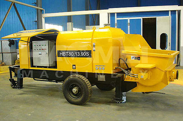 HBT80 trailer concrete pump